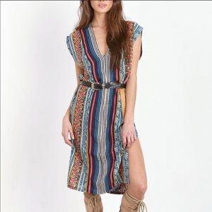 NOVELLA ROYALE Colorful Print Flowy Dress Cover Up